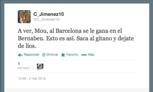 Tuit cj madrid-barca