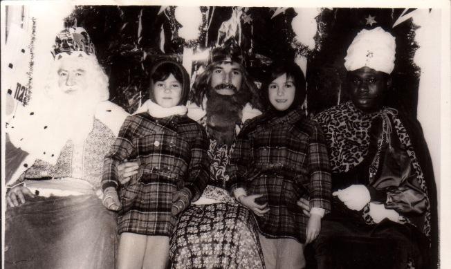 Gabi y yo con los Reyes Magos