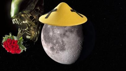 chinos en la luna